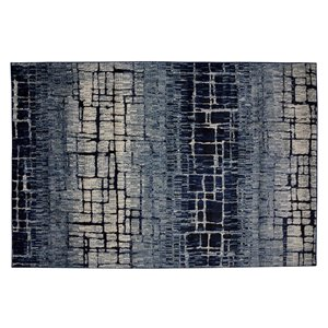 Collection Bourbon Street Fairbanks Area Rug - 5-ft x 8-ft - Blue