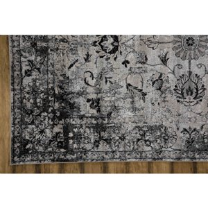 Collection Bourbon Street Westford Area Rug - 5-ft x 8-ft - Light Grey