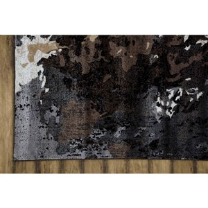 Collection Bourbon Street Simsbury Area Rug - 8-ft x 10-ft - Black