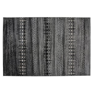 Collection Bourbon Street Anniston Area Rug - 5-ft x 8-ft - Grey