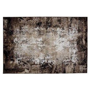 Collection Bourbon Street Lakeview Area Rug - 8-ft x 10-ft - Brown