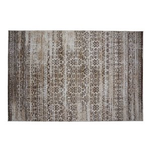 Collection Bourbon Street Jasper Area Rug - 5-ft x 8-ft - Brown