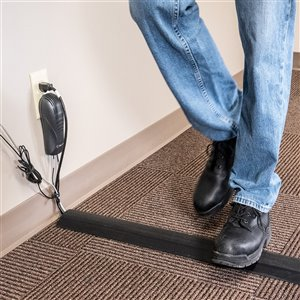 Lineboss Industrial-Grade 3-Channel Floor Wire, Cord and Cable Protector - 5-ft x 3.5-in