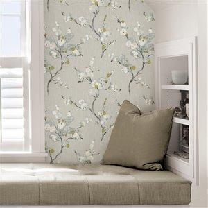 NuWallpaper Self-Adhesive Vinyl Wallpaper - 30.75-sq. ft. - Grey and White