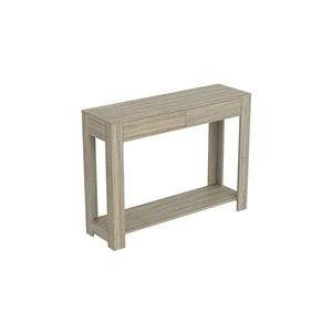 Safdie & Co. Console Table - 1 shelf and 2 drawers - 30-in x 40-in - Dark Taupe