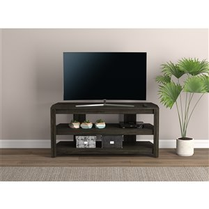 Safdie & Co. TV Stand - 2 Open Shelves - 42-in x 19.5-in - Dark Grey
