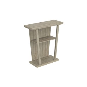 Safdie & Co. Console Table - 2 shelves - 34-in x 31.25-in - Dark Taupe