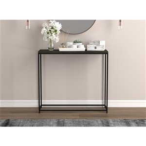 Safdie & Co. Console Table - Rectangular - 28-in x 31-in - Dark Grey and Black Metal