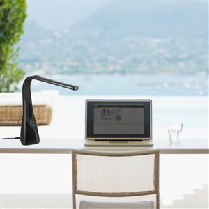 Globe Electric Tech Series LED Desk Lamp - Integrated Bladeless Fan - Fast Charging USB Port - 25-in