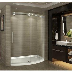 Turin Arc-En-Ciel Alcove Shower Set - Right  - 60-in - Nickel