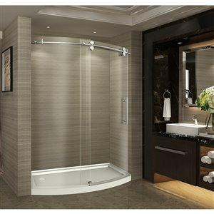 Turin Arc-En-Ciel Alcove Shower Set - Left - 60-in - Nickel