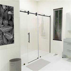 Turin Horizon Alcove Shower Door - 72-in - Black
