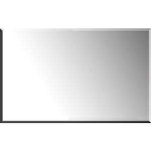 Mirrorize Canada 48-in L x 30-in W Rectangle Silver Beveled Vanity Mirror