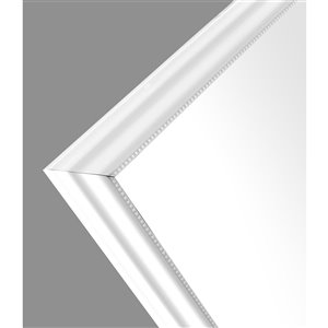 Mirrorize Canada 48-in L x 12-in W Rectangle White Framed Door Mirror