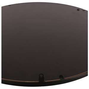 Mirrorize Canada 34-in  Round Black Framed Vanity Mirror