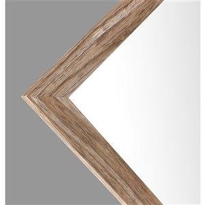 Mirrorize Canada 49.5-in L x 13.5-in W Rectangle Oak Brown Framed Door Mirror