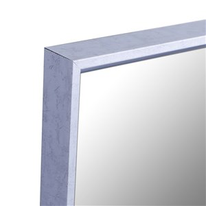 Mirrorize Canada 49.5-in L x 13.5-in W Rectangle White Patina Framed Door Mirror