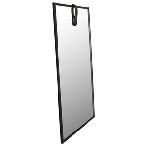 Mirrorize Canada 20-in L x 13-in W Rectangle Black Framed Wall Mirror