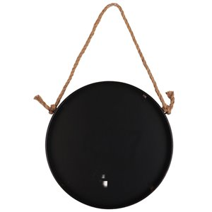 Mirrorize Canada 24-in Round Black, Brushed Copper Framed Wall Mirror