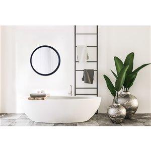 Mirrorize Canada 22-in Round Black Framed Wall Mirror