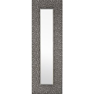 Mirrorize Canada 27-in L x 9-in W Rectangle Silver Grey Mosaic Framed Wall Mirror