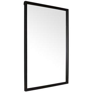 Mirrorize Canada 35-in L x 24-in W Rectangle Black Framed Vanity Mirror