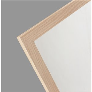 Mirrorize Canada 48-in L x 12-in W Rectangle Maple Brown Framed Door Mirror
