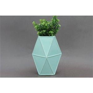 ArtMaison Canada Geometric Ceramic Vase 9 x 6-in,  Turquoise