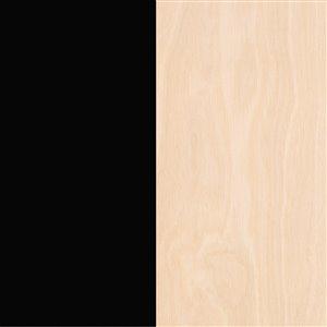 Nexera 119274 Runway TV Stand - 72-inch - Black and Russian Birch Plywood