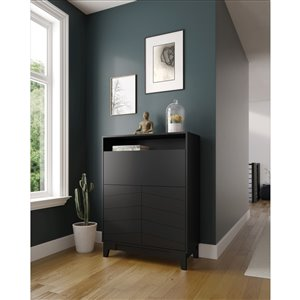 Nexera 402694 Boss Secretary Desk - Black