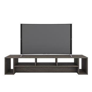 Nexera 110044 Rustik TV Stand - 72-inch - Bark Gray