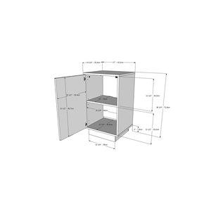 Nexera Nightstand - 1-Door - Greige