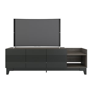 Nexera 402629 Influence TV Stand - 72-inch - Bark Gray and Charcoal Gray