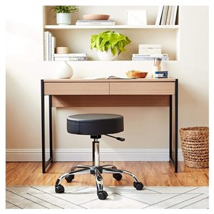 Nicer Interior Caressoft Medical Drafting Stool with Adjustable Height - Black