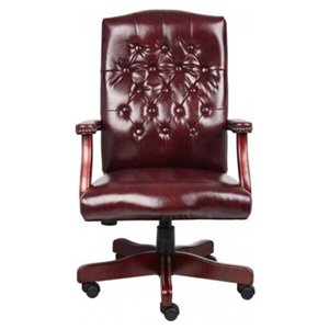 Nicer Interior Traditional Executive Office Chair - Burgundy