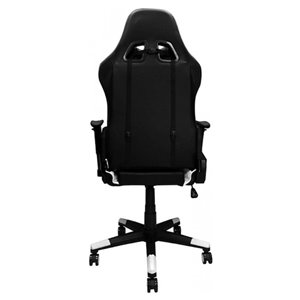 Nicer Interior Reclining Gaming Chair with Head Cushion - Black and White