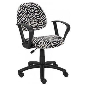 Nicer Interior Perfect Posture Desk Chair - Microfibre - Zebra Pattern