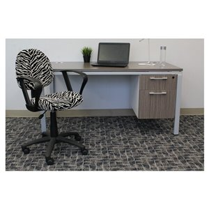 Nicer Interior Perfect Posture Desk Chair with Arms - Zebra Pattern