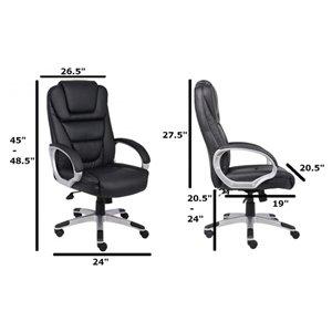 Nicer Interior Ergonomic Executive Chair - Black Polyurethane