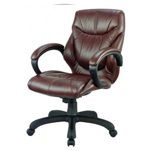 Nicer Interior Ergonomic Executive Office Chair - Black Leather