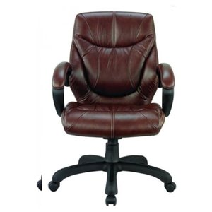Nicer Interior Ergonomic Executive Chair - Chocolate Brown Leather