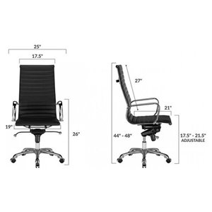 Nicer Interior Modern Eames Executive Office Chair - Black