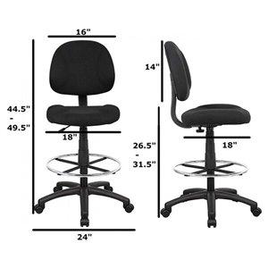 Nicer Interior Drafting Chair - Black