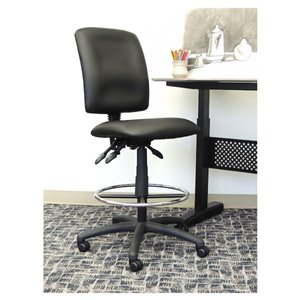 Nicer Interior Multi-Function Ergonomic Drafting Chair without Arms - Black