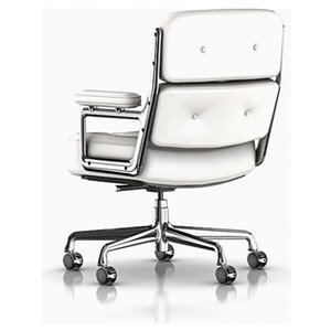 Nicer Interior Eames Executive Office Chair - White Leather