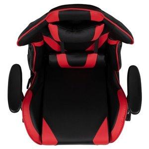 Nicer Interior Memory Foam Drafting Chair - Natural Wooden Frame - Black