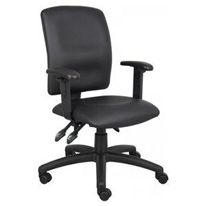 Nicer Interior Multi-Function Ergonomic Task Chair - Black Polyurethane
