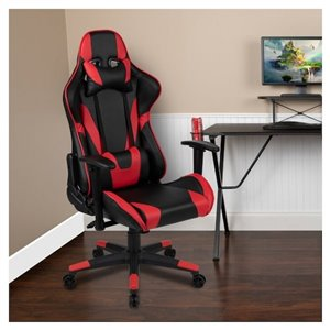 Nicer Interior Ergonomic Gaming Chair - Black and Red