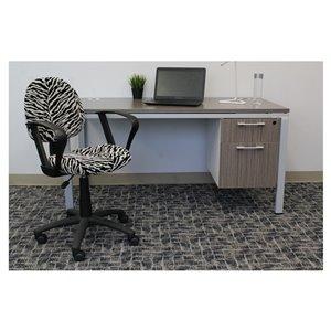 Nicer Interior Perfect Posture Desk Chair - Zebra Pattern