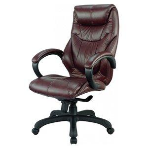Nicer Interior Caressoft Executive Chair - Chocolate Brown Polyurethane